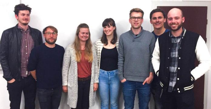 v. l. n. r.: Lennard Sangmeister, Dennis Kochuro, Anna Zimmermann, Clara Ehrmann, Tomas Lada, Daniel Heringer & Arne Janßen