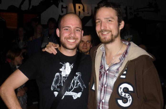 Arne (l., Ernst.FM) und Frank Turner